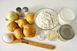 Заливной пирог с рыбой и картошкой - фото шаг 1