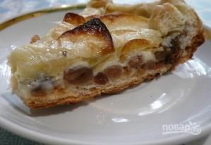 Торт на сковороде с яблоками и изюмом - фото шаг 7