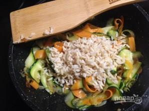Рис с морковкой, цуккини и апельсином - фото шаг 8