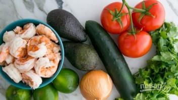 Салат из морепродуктов с авокадо - фото шаг 1