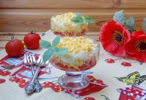 Салат с яйцами, сыром и помидорами - фото шаг 7