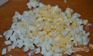 Салат с куриной грудкой и грибами - фото шаг 5
