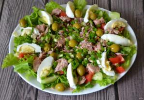 Овощной салат с тунцом - фото шаг 6