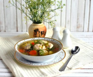 Куриный суп с кнелями - фото шаг 8