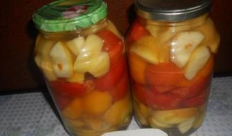 Салат из помидоров на зиму без стерилизации - фото шаг 7