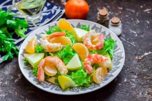 Салат с креветками и мандаринами - фото шаг 5