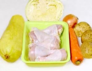 Курица с овощами в мультиварке Поларис - фото шаг 1