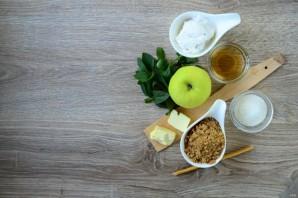 Яблочный крамбл с мороженым - фото шаг 1
