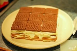 Творожный торт из печенья - фото шаг 6