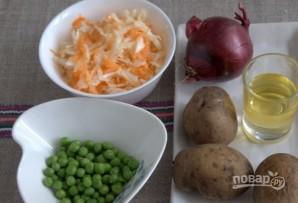 Картофельный салат с квашеной капустой - фото шаг 1