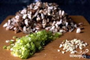 Пирожки с грибами и голубым сыром - фото шаг 1
