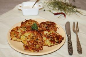 Драники с ветчиной, сыром и зеленью - фото шаг 8