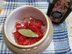 Мясной суп с чечевицей в духовке  - фото шаг 4