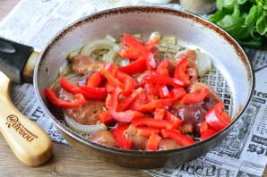Куриная печень с болгарским перцем - фото шаг 7