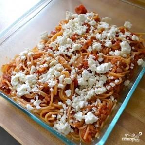 Запеченные спагетти с сосисками - фото шаг 7