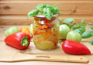 Дунайский салат из зеленых помидоров на зиму - фото шаг 10