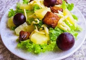 Салат (курица с ананасами с сыром) - фото шаг 5