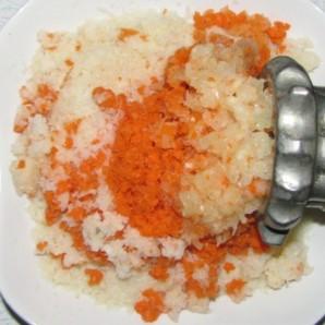 Котлеты с овощами в духовке - фото шаг 4