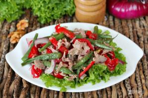 Салат из говядины с фасолью - фото шаг 8