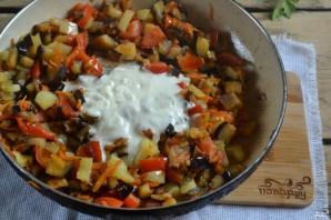 Овощи под сметанным соусом - фото шаг 7