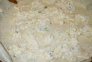 Сырный пирог из лаваша с зеленью - фото шаг 6