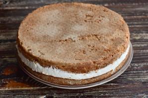 Торт с суфле и бисквитом