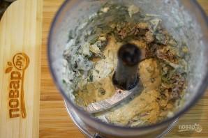 Вегетарианские фаршированные грибочки - фото шаг 4