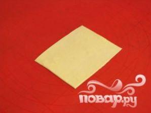 Слоеные пирожки с ветчиной и сыром - фото шаг 3
