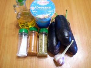 Баклажаны жареные с чесноком и сметаной - фото шаг 1