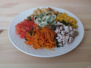 """Салат """"Эдельвейс"""" с корейской морковью - фото шаг 4"""