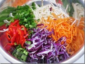 Курица с рисовой лапшой и овощами - фото шаг 2