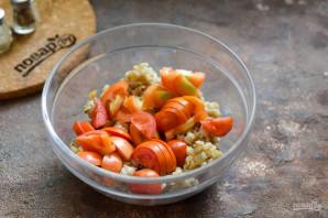 Салат с базиликом, креветками и перловкой - фото шаг 3