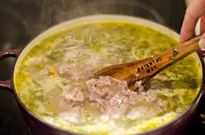 Суп щавелевый с мясом - фото шаг 7