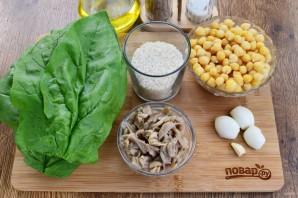 Суп из шпината и бараньего гороха - фото шаг 1