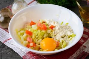 Оладьи из кабачков и помидоров - фото шаг 4