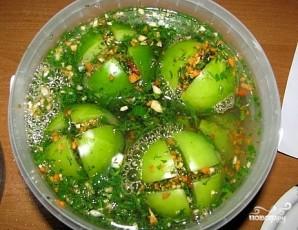 Квашеные зеленые помидоры - фото шаг 8