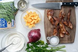 Салат из гороха и бекона - фото шаг 1