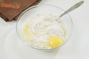 Пирожки из творожного теста с курицей - фото шаг 3