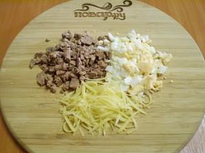 Салат с корейской морковью и печенью - фото шаг 2