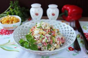 Салат с яйцом и ветчиной - фото шаг 9