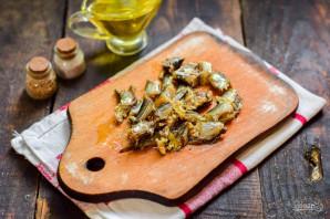 Салат со шпротами и грибами - фото шаг 4