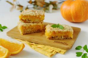 Насыпной пирог с тыквой и апельсином - фото шаг 9