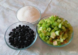 Варенье из ревеня и паслёна  - фото шаг 1