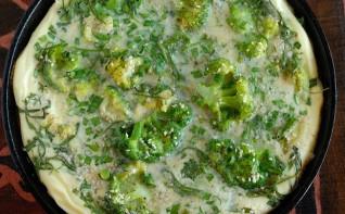 Омлет с брокколи в духовке - фото шаг 6