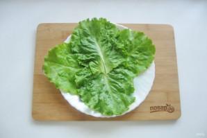 Мясной салат с маринованным луком - фото шаг 9