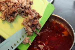 Борщ рецепт классический с мясом - фото шаг 8