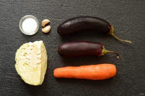 Фаршированные баклажаны с морковью и капустой - фото шаг 1
