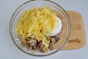 Сырные булочки с мясной начинкой - фото шаг 5