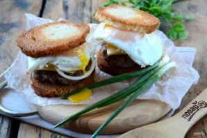 Чизбургер с гренками и яйцом - фото шаг 6