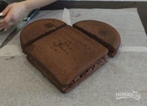 Торт в виде сердца без формочки - фото шаг 5